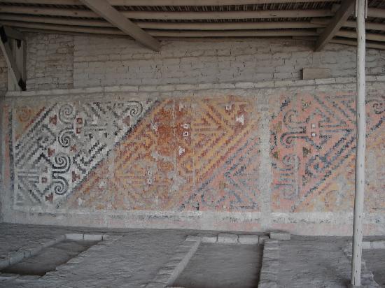 Mural próximo à tumba da Senhora de Cao