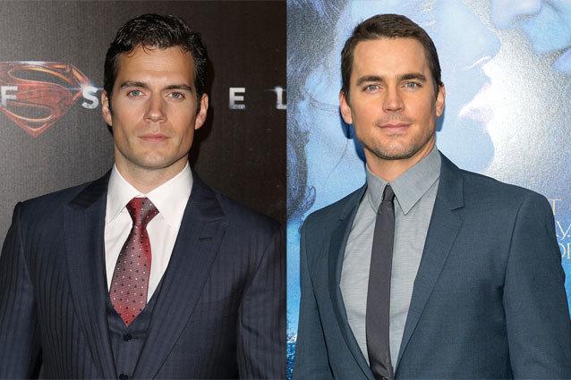 Outros gêmeos? Ou clones? Henry Cavill (Super-homem) e Matt Bomer (Magic Mike, Glee).