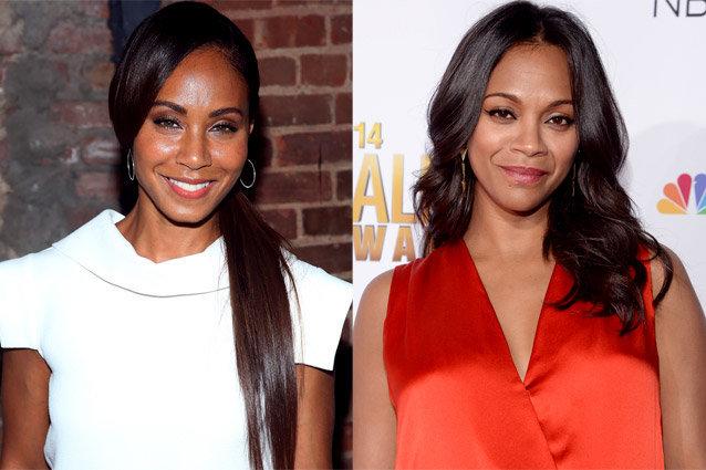 Elas poderiam ser gêmeas! Jada Pinkett Smith e Zoe Saldana!