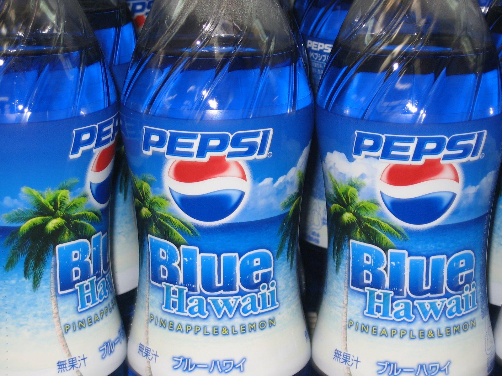 Limited edition Blue Hawaii Pepsi |