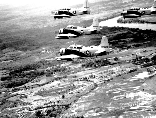 A-1E_Skyraider_aircraft_in_formation,_1965