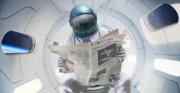 Dor de barriga no espaço! Header-l