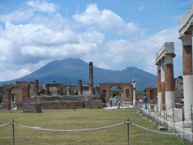 As ruínas de Pompeia.