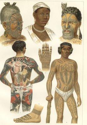 Povos antigos já tatuavam o corpo.
