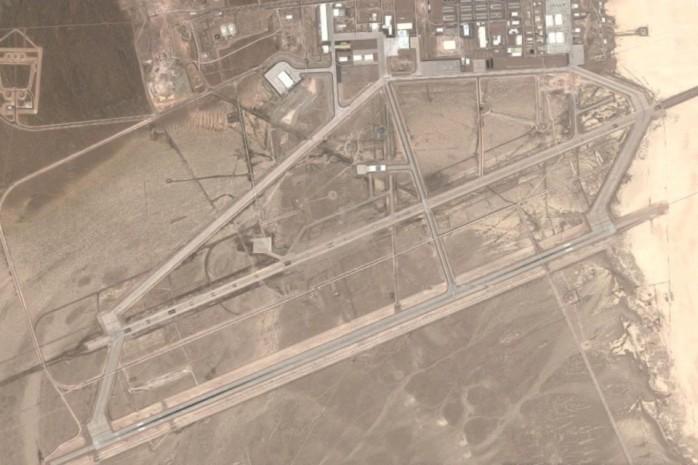 Área 51 vista de satélite.