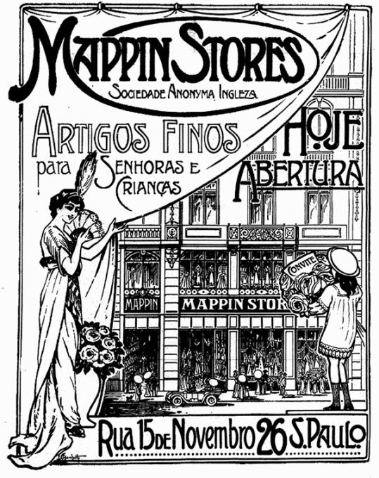 Anúncio da inauguração, em 1913