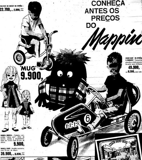 Em 1966, todos os lançamentos de brinquedos eram feitos no Mappin