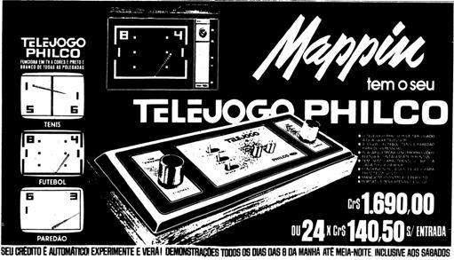 Em 1978, os primeiros vídeogames eram lançados antes no Mappin. A cidade tinha muitas outras grandes lojas, como Pirani, Mesbla, A Exposição/ Clipper, a Sears, snard, Cássio Muniz, mas Mappin era... o Mappin.