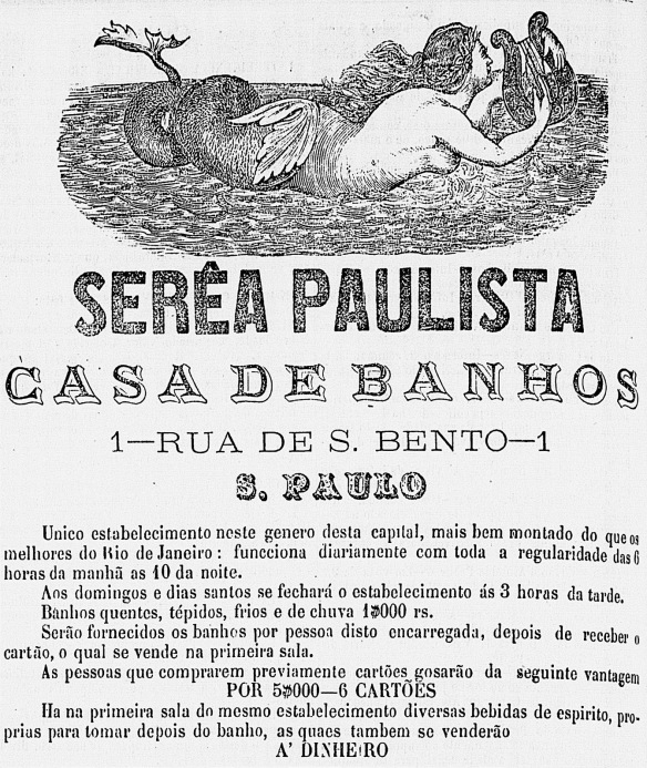 Anúncio publicado no jornal O Correio Paulistano de 29-10-1865
