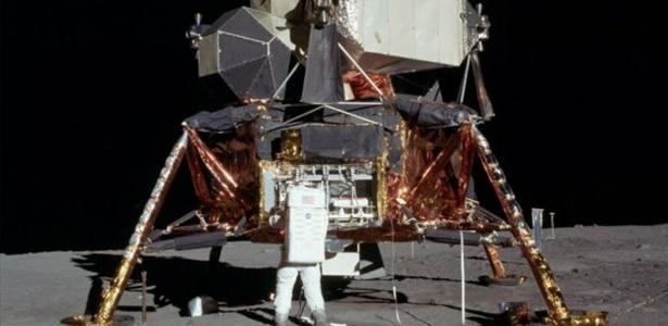 O módulo lunar da Apollo 11; disjuntor quebrado quase inviabilizou decolagem para retorno ao módulo de comando