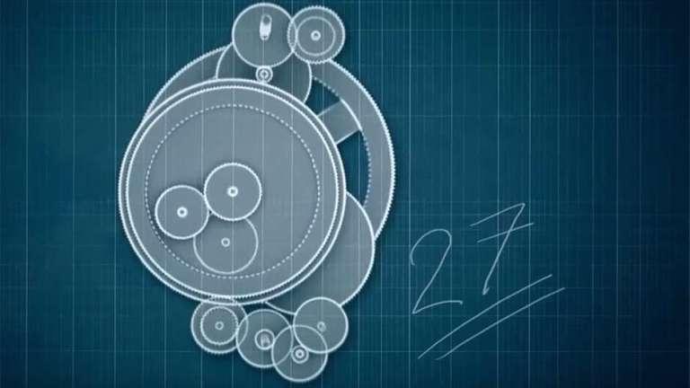A primeira surpresa: o mecanismo era formado por 27 engrenagens