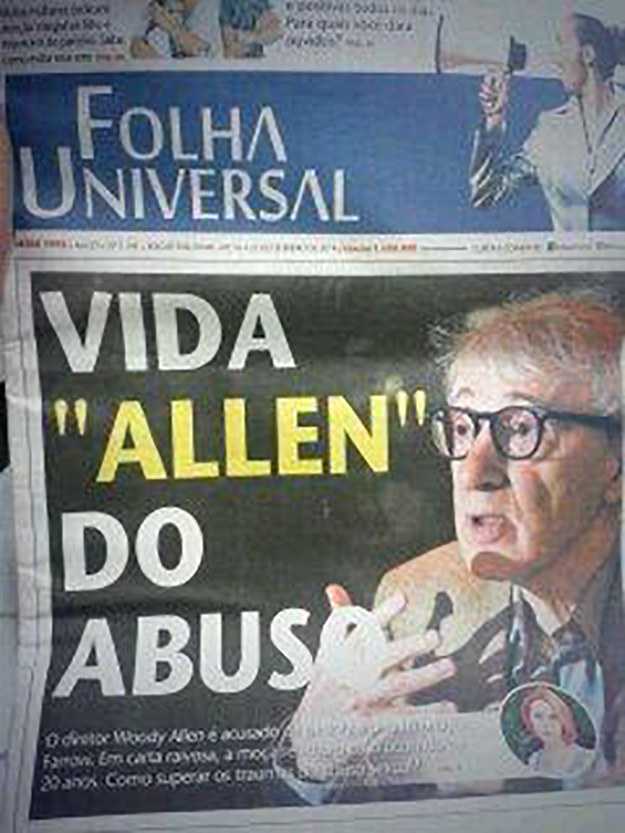 Em jornais